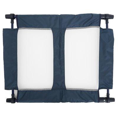 Puerta Seguridad Plegable en Acero y Tela Azul 92x70 cm
