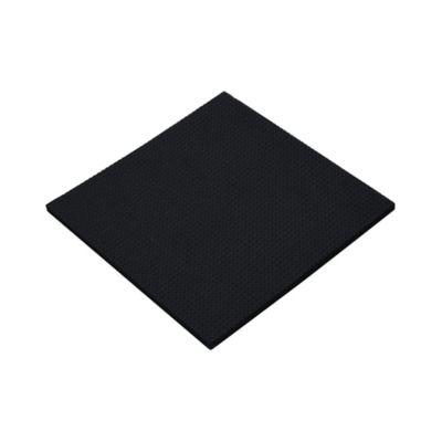 Protector Caucho Cuadrado Negro 99x99mm 1und