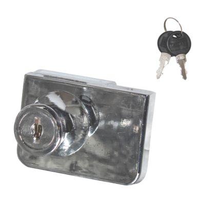 Chapa Mueble Niquel Doble Puerta Vidrio 19x18mm ST