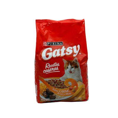 Gatsy recetas caseras sabor carne, arroz y maíz x 3 kilos