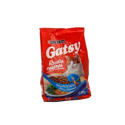 Gatsy recetas caseras sabor a pescado, arroz y espinaca x 500 gramos