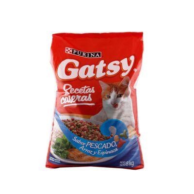 Gatsy Recetas Caseras Sabor Pez, Arroz y Espinaca 8 kg