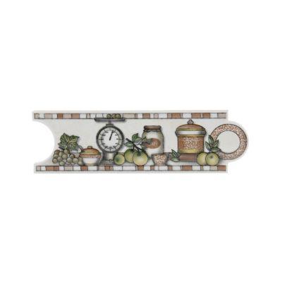 Listelo malibu café 8 x 25 cm para cocina