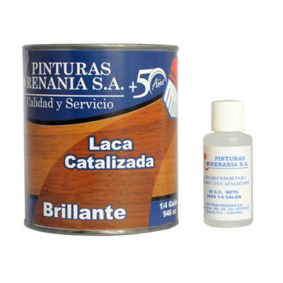 Laca Catalizada Brillante 1/4 Galón