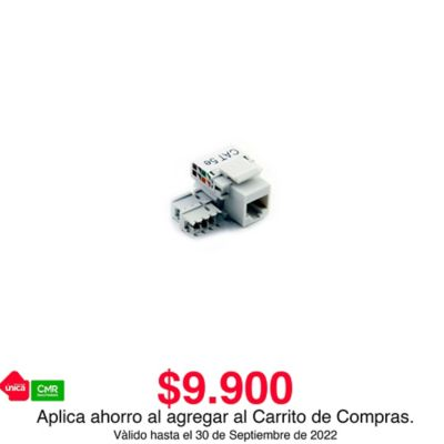 Jack Rj45 Incrustar Categoria 5e Blanco