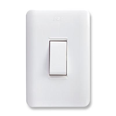 Interruptor Conmutable Sencillo Blanco