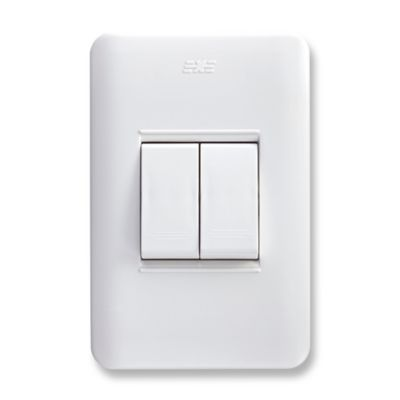 Interruptor Conmutable Doble Blanco