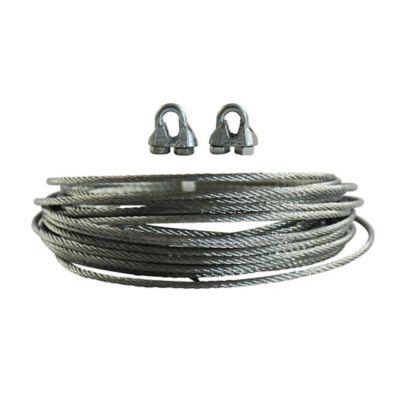 Cable acero galvanizado 1/16 pulgada 5 metros + perro 1/8 2 unidades