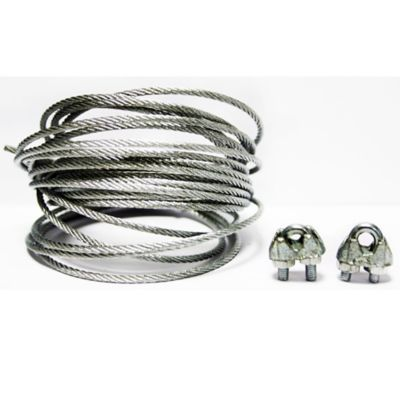 Cable acero galvanizado 3/32 Pulg 5 metros + perro 1/8 2 unidades
