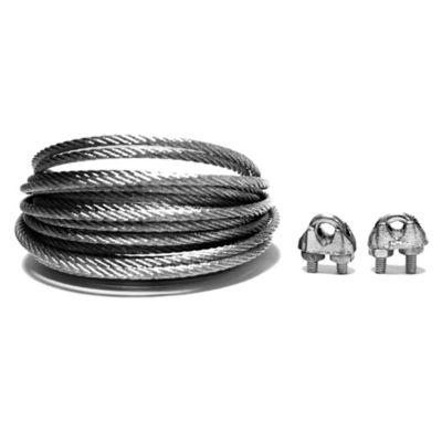 Cable acero galvanizado 1/8 pulgada 5 metros + perro 1/8 2 unidades
