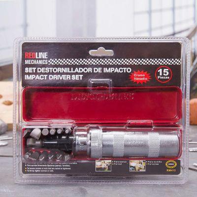 Destornillador de golpe 15 piezas RM415