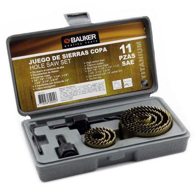 Set sierra copa 11 piezas con mandril Ref 18L1151