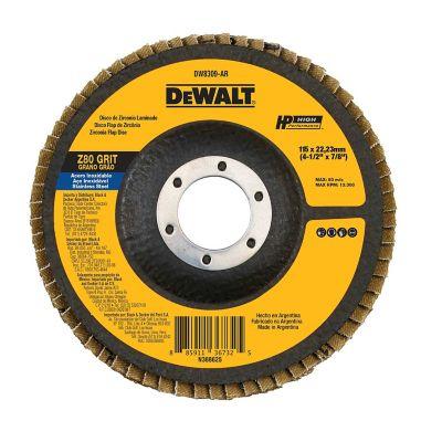 Disco Flap 4-1/2X7/8 Pulgada  Grano 80  Ref DW8309