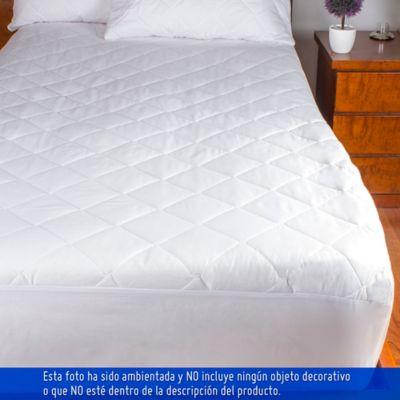 Protector ajustable para colchón semidoble