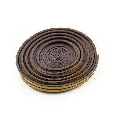 Burlete Adhesivo Perfil P Marron 11.90mX9mmX5mm