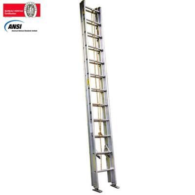 Alquiler Escalera de Extension en Aluminio 24 Pasos 4.0 a 8mt Resistencia 136kg