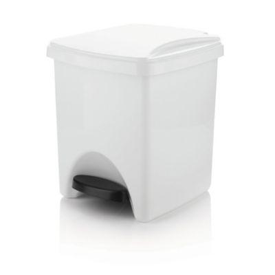 Caneca Plástica Pedal 20 Litros Blanca