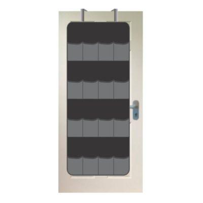 Organizador De Zapatos Para Puerta 16 Pares 120x53 cm Negro