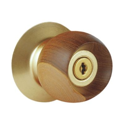Cerradura Alcoba Madera Plateada Bell Wood
