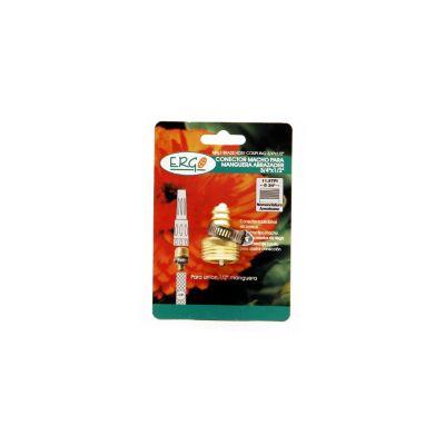 Conector macho para manguera 1/2 pulgada abrazadera