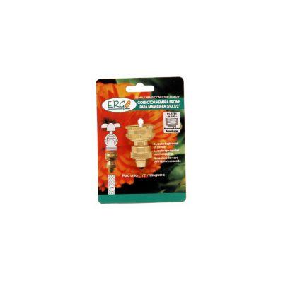 Conector hembra metálico para manguera 1/2 pulgada