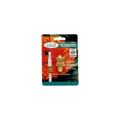 Conector macho metálico para manguera 1/2 pulgad