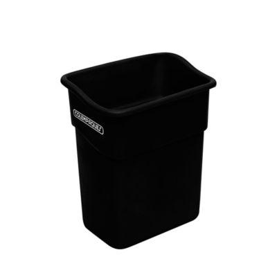 Caneca Plástica Rectangular sin Tapa 10 Litros Negro