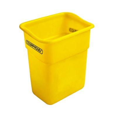 Caneca Plástica Rectangular sin Tapa 10 Litros Amarillo