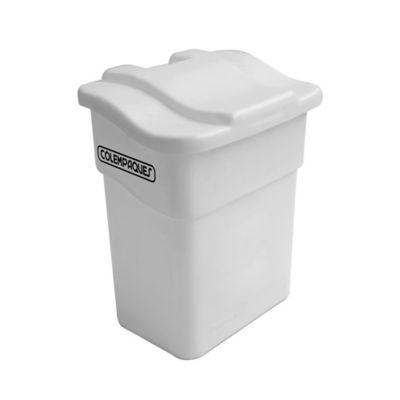Caneca Plástica con Tapa Plana 20 Litros Blanco