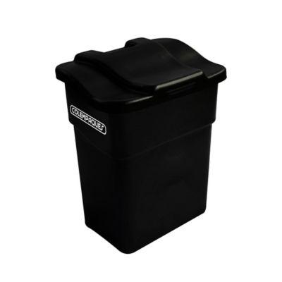 Caneca Plástica con Tapa Plana 20 Litros Negro