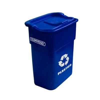 Caneca Vaivén Rectangular Plástico 35 Lts. - Azul