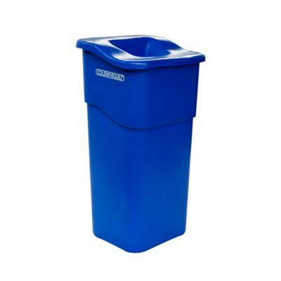 Caneca con Tapa Rectangular Plástico 50 Lts. - Azul
