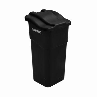 Caneca Plástica con Tapa Plana 50 Litros Negro