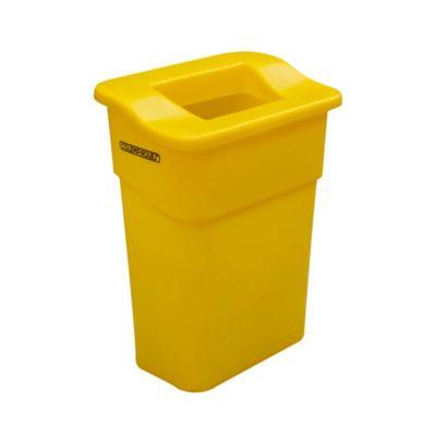 Caneca con Tapa Orificio Rectangular Reciclaje 75 Lts. - Amarilla