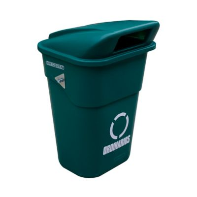 Caneca Plástica con Tapa Vaivén 100 Litros Verde