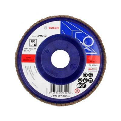 Disco flap 4 1/2 pulgadas grano 60 bluemetal/plástico 2608607362