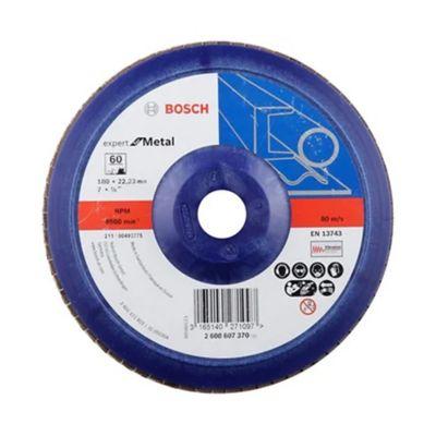 Disco flap 7 pulgadas  (17,7 cm ancho) granos 60 blumetal/plástico 2608607370