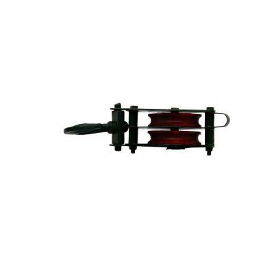Garrucha 1100 kilogramos 2 ruedas 4 pulgadas (10 cm gancho) trabajo pesado