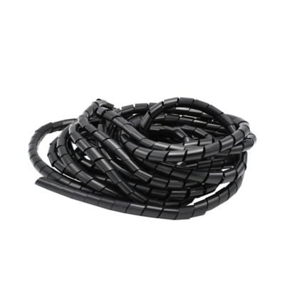Protector cables 1,9 cm x 10 metros negro