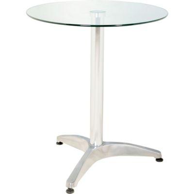Mesa redonda de vidrio