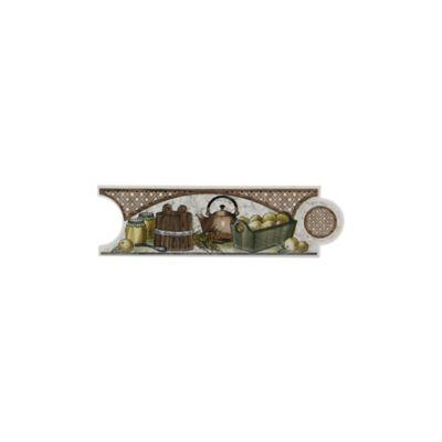 Listelo damasco beige 8 x 25 cm para cocina
