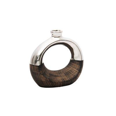 Florero Circular Cromado 22 cm