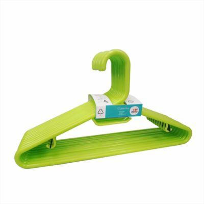 Gancho plástico verde x 10 unidades