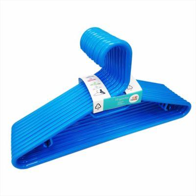 Gancho plástico azul x 10 unidades