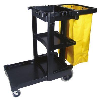 Carro de limpieza con bolsa amarilla 78.7 litros