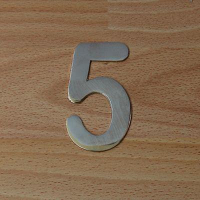 Número Niquel Satinado # 5