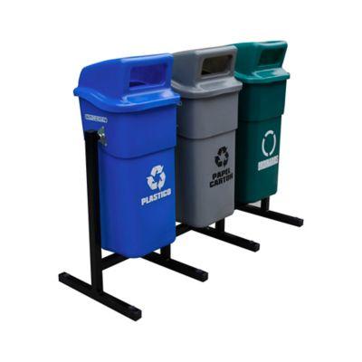 Estación de Reciclaje x 3 Canecas 50 Lt