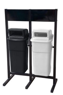 Estación de Reciclaje x 2 Canecas 50 Litros con Tablero