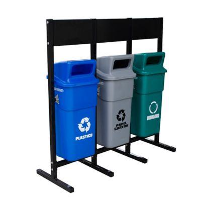 Estación de Reciclaje x 3 Canecas 50 Litros con Tablero