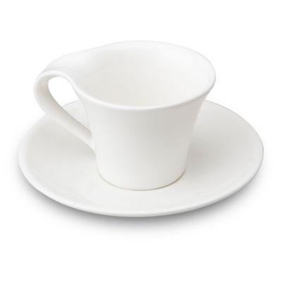 Pocillos 6 unidades + 6 platos italian blanco